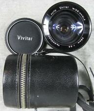Vintage Vivitar Auto Wide-Angle 28mm f 2.5 Lenz in Case no 22005296