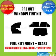 BMW 3 Series E36 4-DOOR 1991-1998 COMPLETO TASTINI finestra Tinta KIT