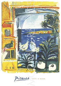 """PICASSO PABLO - THE PIGEONS, 1957 - ART PRINT POSTER 38"""" x 27"""" (246)"""