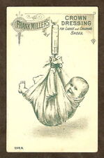 Victorian Trade Card VTC Frank Miller CROWN SHOE DRESSING Baby Weighing Scale