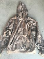 natural gear camouflage Fleece Hoodie Pullover Men's Small