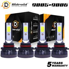 Ridroid 9005+9006 Combo LED Headlight Kits 240W High/Low Beam Bulbs 6000K White