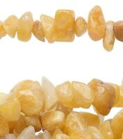 "34"" Strand Natural Golden Jade Mini to Extra Large Chip Beads"