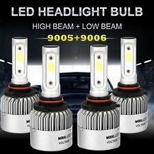 9005 9006 Led Headlight Kit Combo Bulbs 6000k High Low Beam Super White