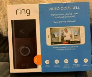 Ring Wi-Fi Enabled Video Doorbell in Venetian Bronze BRAND NEW SEALED