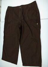 Caribbean Joe Island Supply Co. Womens  Khaki Brown Capri/Cropped Pants Size 12