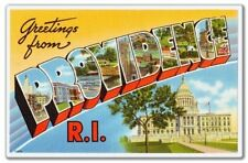 Greetings from Providence Rhode Island Vinyl Sticker - SELECT SIZE