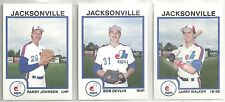 1987 Pro Cards Jacksonville Expos 29-card Minor League Team Set Randy Johnson