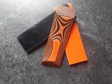Neu! G10 Griffschalen, GFK, signal orange / black, Griffmaterial, Micarta,
