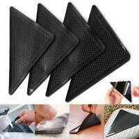4X Rug Grippers Stopper Anti Slip Safety Rubber Corner Mat Washable Carpet Pad
