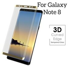 Full Curved Gold 3D Tempered Glass screen protector for Samsung Galaxy Note 8