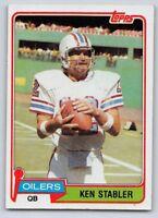 1981  KEN STABLER - Topps Football Card- # 405 - HOUSTON OILERS