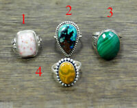 Natural Gemstone Ring Solid 925 Sterling Silver Handmade Jewelry MR1961