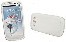 Rubber Silikon TPU Hülle Cover Case Schutz in Weiß für Samsung i9300 Galaxy S3