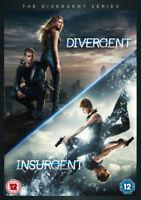 Divergent/Insurgent DVD (2015) Shailene Woodley, Burger (DIR) cert 12 2 discs