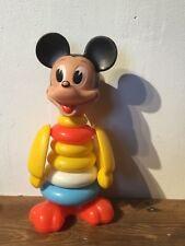 Disney,  mickey mouse, vintage stack toy.  Estrela brazil