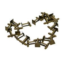 20pcs Cufflink Cuff Link Blanks Square Bezel Base Findings Men Accessories