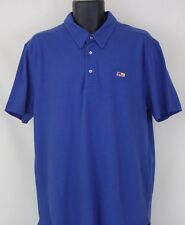 NEW Mens Five Four Wainscott Blue Polo Shirt Short Sleeve Size L Large