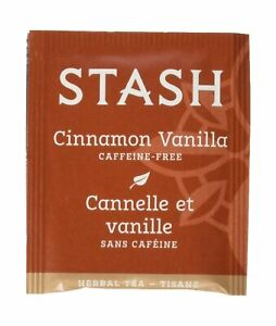 Stash Tea Cinnamon Vanilla Herbal Tea 100 Count Tea Bags in Foil (packaging m...