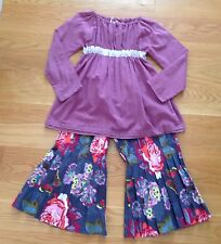 Boutique Resell~Seam Collection Peasant Top & Floral Butterfly Pleated Pants~6