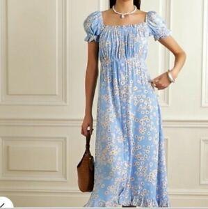Faithfull The Brand Ina Floral Midi Dress Kate Middleton style xs s