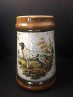 Vintage Beer Stein/Mug Hunting Pointer Dog