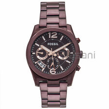 Fossil Original ES4110 Women's Perfect Boyfriend Wine Stainless Steel Watch 39mm