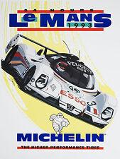 Le Mans 1993 Michelin, Retro metal Aluminium Vintage Sign Wall Plaque Racing