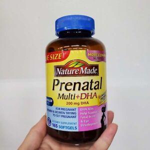 Nature Made Prenatal Multi + DHA 200 mg smaller pills, 165ct BB 03/2021