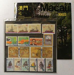MACAU Macao 1985 Year Pack Full Sets CTO Stamps/ Boats/ Buffalo/ Butterflies