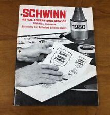 Vtg 1980 Schwinn Bicycle Retail Advertising Dealer Catalog Brochure Bike Service