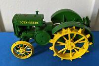 Vintage John Deere Steel Farm Tractor Die Cast Model Toy