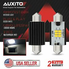 2X 6000K White 41MM Festoon LED Dome Map Interior Lights bulb Lamp 211-2 212-2 D