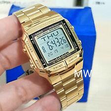 Casio Gold Retro Vintage Classic Alarm Digital DB360G-9 WatchTelememo Data new