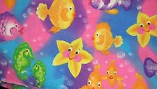 Feliz Pez & Burbujas Donna Dewberry -pinks-purples-yellow-oranges-fat Cuarto