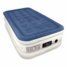 "NEW Twin Air Mattress SoundAsleep Hold 300# 73""Lx38""Wx18""H FAST Pump 4.3✩ Review"