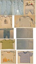 Baby Boys 0-3 Months Cotton Tops Babygrows Top & Pants Set Next Mothercare etc