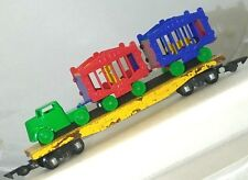 American Flyer No 643 Pressed Wood Circus Flatbed Reproduction Tractor & Cages