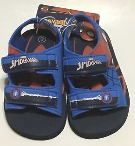 Marvel Spiderman Superhero Toddler Boys Shoes Sandles with Straps Small 5/6