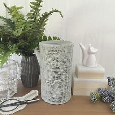 Handmade Grey Textured Vase/Cylinder Vessel/Terracotta/Utensil Holder