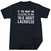 Lacrosse Sport T Shirt Lacrosse Player Tee Funny Birthday Christmas Gift for Him