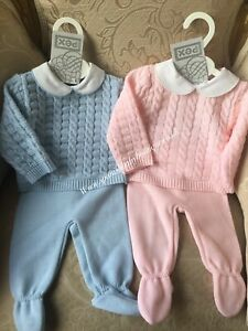 Spanish style Baby knitted Set Unisex 3-6-months romany Pex
