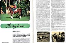 Citation Calumet Stables Horse TRIPLE CROWN WINNER Orig. 1948 Magazine Article