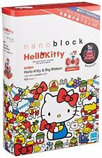 Large ribbon and the nano block Sanrio Hello Kitty NBH_078