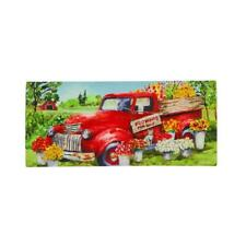 "Red Flower Truck Welcome Sassafras Switch Mat   22""x10"" Evergreen Enterprises"