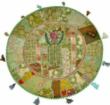 Indian Patch Work Ottoman Round Floor Traditional Outdoor Cushion Cover