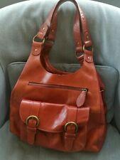 Autograph 100% Leather Tote Hobo Shoulder bag  Handbag Terrocota Red M&S