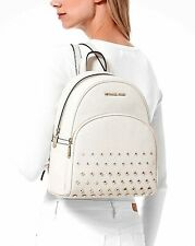 Michael Kors Backpack Bag Abbey Md Studded Backpack Leather Vanilla New