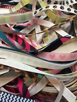 100 yds 3/8 inch grosgrain ribbon solids (60 solid 40 assorted prints) Lot d