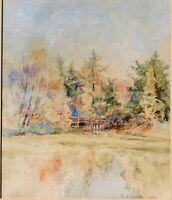 Edmund Winham,b.1858 important NY W/C artist, 1891